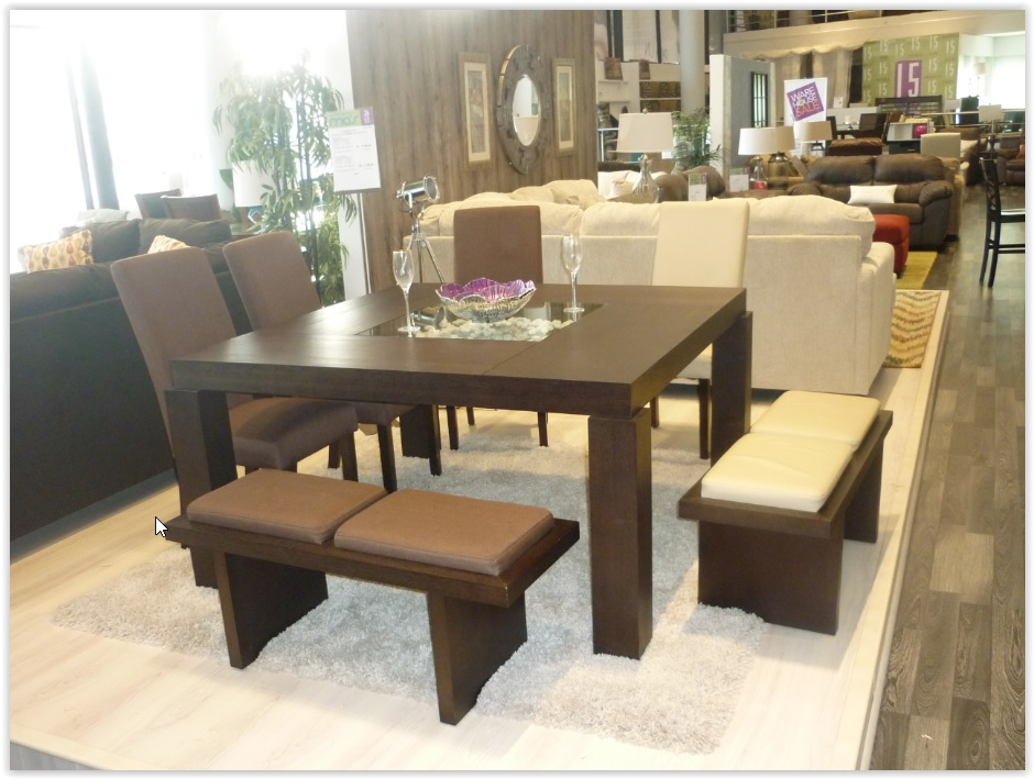 Comedor d1084 alto 8p chocolate productos furniture for Comedor alto